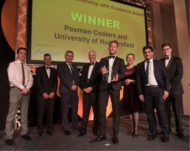 Paxman gewinnt Partnership with Academia Preis